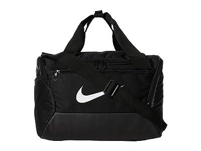 Nike Brasilia Extra Small Duffel 9.0 (Black/Black/White) Bags