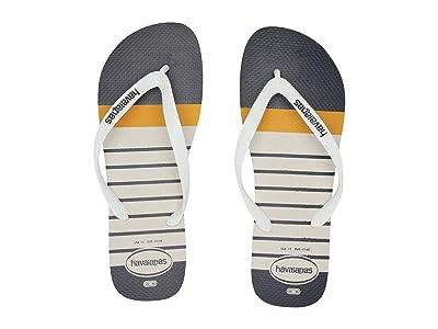 Havaianas Top Nautical Flip-Flops (White/White) Men