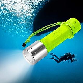 TurnRaise 1000 lúmenes Linterna de Submarinismo Linterna