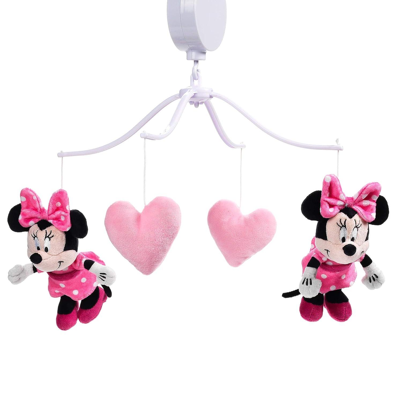 Lambs Ivy Disney Baby 出荷 Minnie Love Crib Mouse Pink Musical 男女兼用