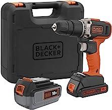 Black & Decker BCD003MEM2K-QW BCD003MEM2K-QW-Taladro percutor 18 V 2 velocidader med 4 h, 1 bar 2Ah Litio y Maletin