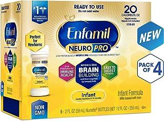 Enfamil NeuroPro Ready to Feed Baby Formula Milk, 2 Fluid Ounce (24 Count), Omega 3 DHA, Probiotics, Iron