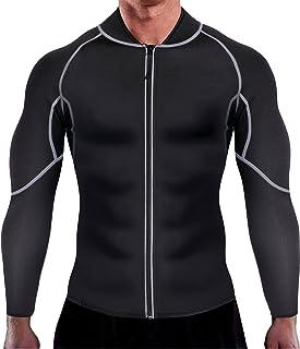 ماسک مردانه اروسکیلی ورزش کت و شلوار پیراهن داغ، کت سونا تناسب اندام کتانی تناسب اندام Neoprene