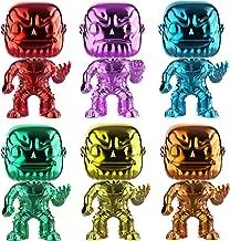 Funko PoP! Marvel Avengers 3: Infinity War - Infinity Stones Thanos Chrome Funko Pop! Vinyl Bundle (Set of 6)