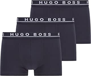 BOSS Mens Trunk 3P CO/EL Three-Pack of Stretch-Cotton Trunks with Logo waistbands