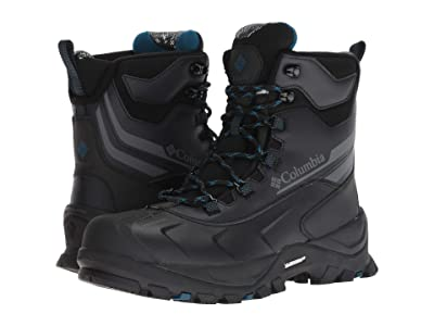 Columbia Bugaboot Plus IV Omni-Heat Wide (Black/Phoenix Blue) Men