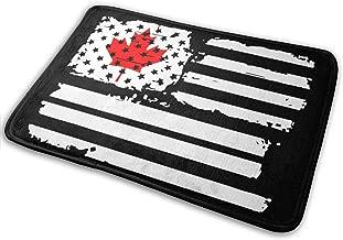 USA Flag Canada Outdoor Antislip Door Mat For Garage Patio High Traffic Areas Shoe Rugs Carpet