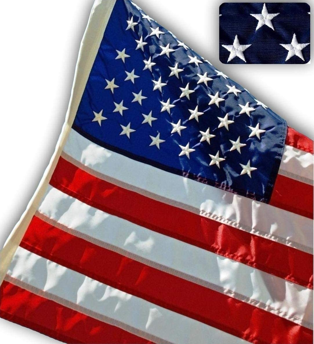 US Flag Factory - 2.5x4 FLAG Spring new work one after another service AMERICAN Embroidered Stars FT