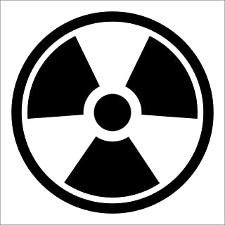 NUCLEAR RADIATION Sticker Warning Nuke - Bio Hazard Zombie Choose Size and Color - Die Cut No Background (2