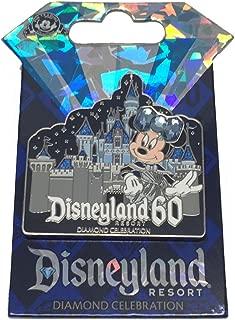Disneyland 60th Anniversary Diamond Celebration Minnie Mouse Sleeping Beauty Castle Trading Pin