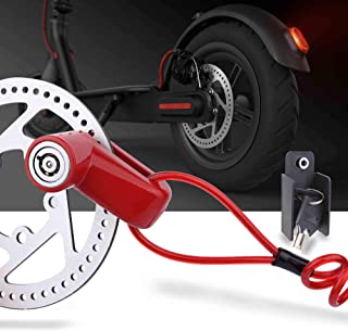 TOMALL Red Disc Brake Lock Anti-theft Steel Wire Lock For Xiaomi Mijia M365 Motorcycle Bicycle Wheels Locker With Reminder...