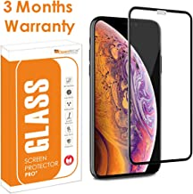 Opentech Edge To Edge Tempered Glass Screen Protector For Apple Iphone XR Iphone 11 With Installation Kit Black
