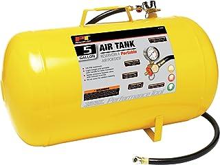 Performance Tool W10005 Hi-viz 5-Gallon Horizontal Portable Air Tank With Tire Air Chuck, Yellow