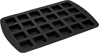 Amazon Brand - Solimo 24 Cavity Silicone Ice Mould, Black