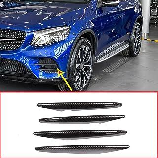 4 tiras de fibra de carbono ABS para la entrada de aire del coche, accesorios