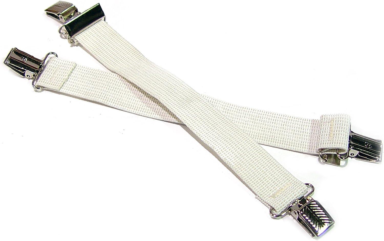 Steel Grip SHORTSUSPENDERS Short Suspenders, White