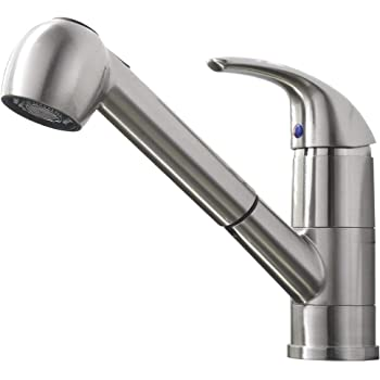 Pfister Pfirst Series 1 Handle Pull Out Kitchen Faucet Stainless Steel Touch On Kitchen Sink Faucets Amazon Com