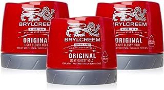 3 X Brylcreem Original Hair Dressing Cream Red Tub Mens Styling Cream 250ml by Brylcreem