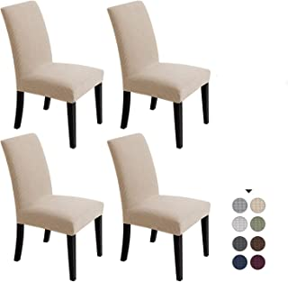 Chair Covers For Dining Room - Stretch Chair Slipcovers for Decorative Seat Protector Water-repellent Armless Removable Wa...