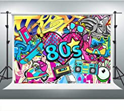 80s 90s Backdrop 10x7ft Hip Hop Party Background for Photography Graffiti Wall Photoshoot Props Theme Birthday Banner LSVV481
