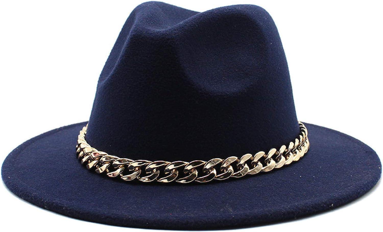 ASO-SLING Women's Big Wide Brimmed Wool Felt Floppy Hat Timelessly Women Warm Fedora Hats Jazz Hat Caps for Outside