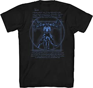 Vitruvian Man Venom Front & Back Print Avengers Leonardo da Vinci Spiderman Adult Mens Graphic T-Shirt