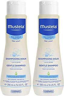 Mustela Gentle Shampoo, Baby Shampoo And Detangler, Tear-Free, with Natural Avocado Perseose, Various Sizes
