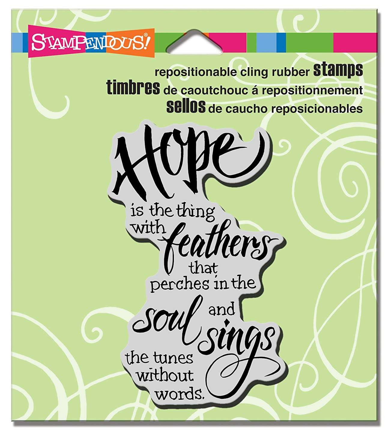 STAMPENDOUS Cling Hope Sings Rubber Stamp