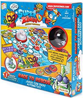 SuperZings- Professor K Juego de Mesa – Race to Rescue-Cas