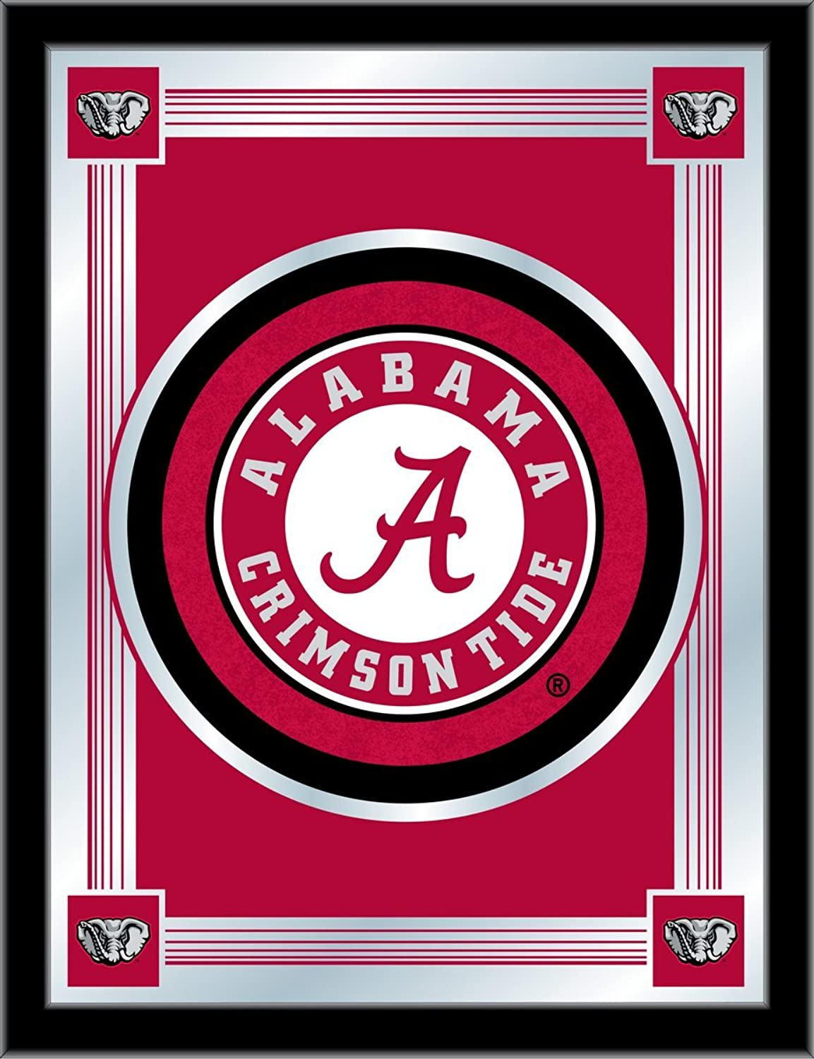 Holland Bar Stool NCAA Alabama Crimson Tide Logo Mirror, 17 X 22-Inch