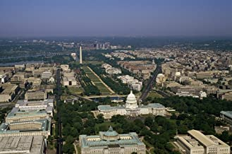 Photograph- Aerial view of Washington, D.C. 5 Fine Art Photo Reproduction 66in x 44in