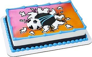 قطعة علوية مغناطيسية لتزيين الكعك على شكل كرة قدم من ديكوباك