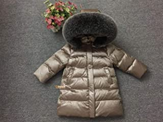Birthday party Baby Girl Clothes, Long Coat Boy 90% White Duck Down Snow Wear 0-3 Months Baby Girl Clothes, Oversized Fur Collar Down Coat Baby Clothes Girl for Wear on the Body Gift Photograph Everyd