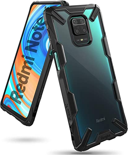 Ringke Fusion X Military Drop Tested Transparent Hard PC Back TPU Bumper Impact Resistant Protection Back Cover Case For Xiaomi Redmi Note 9 Pro Note 9 Pro Max Poco M2 Pro Black
