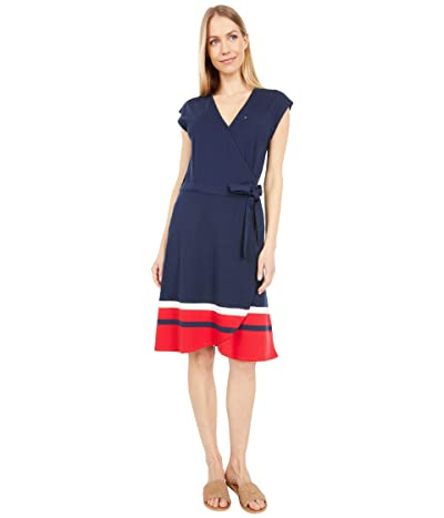Tommy Hilfiger Adaptive Madison Wrap Dress with Snap and VELCRO(r) BRAND Closure Women
