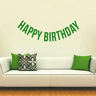 Vinyl Wall Art Decals - Happy Birthday - 16