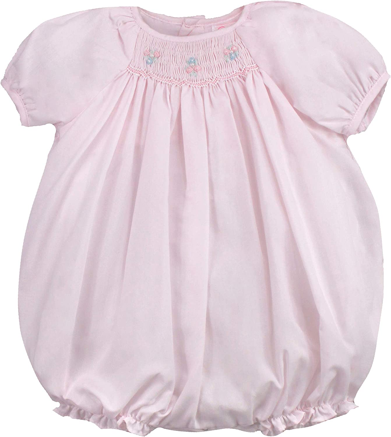 Petit Ami Baby Girls' Hand-Embroidered Smocked Bubble