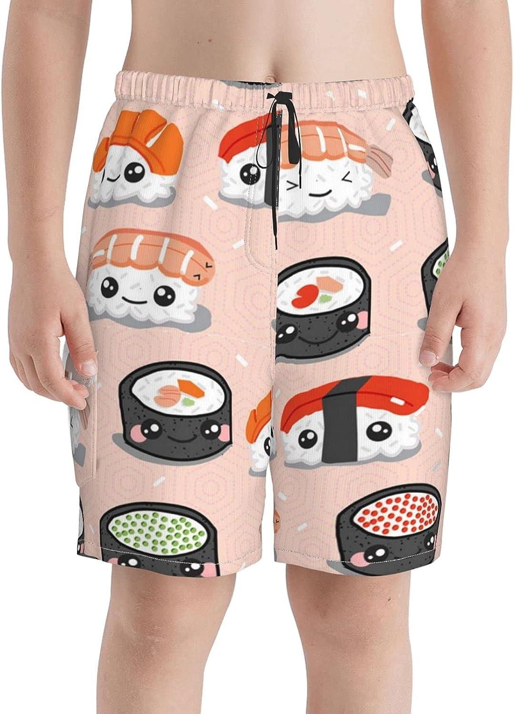 Neddelo Kawaii Sushi Boys Boston Mall Swim Trunks Beach Boardshorts S Teens Jacksonville Mall