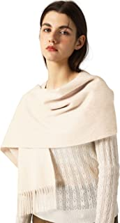 Pure Cashmere Women's Scarf Soft and Delicate Solid Color...