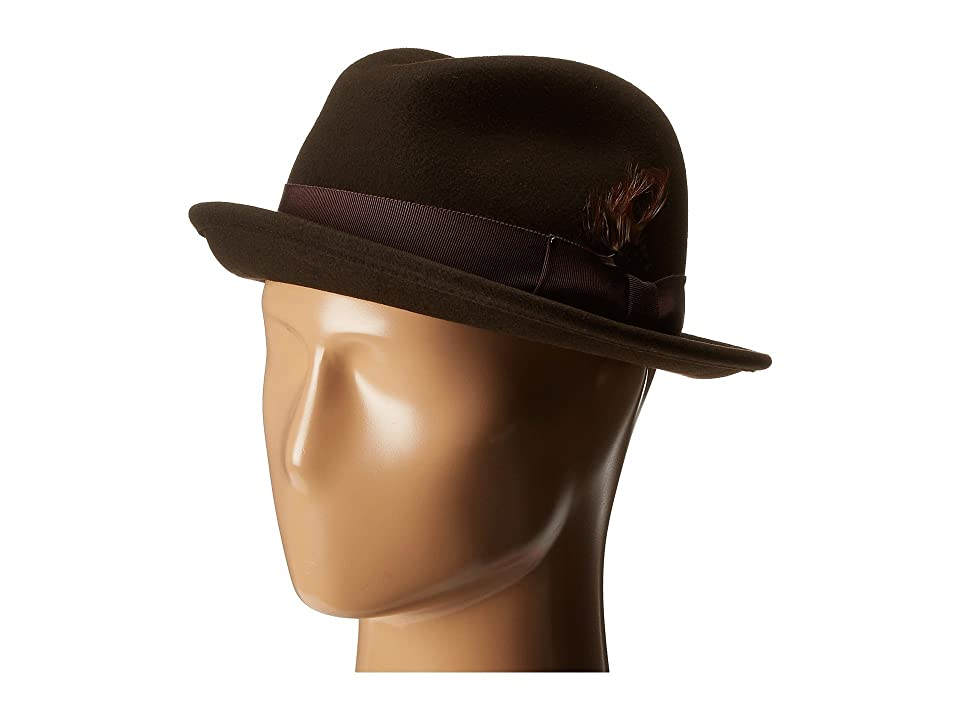 1960s – 70s Style Men's Hats Bailey of Hollywood Tino Brown Caps $88.00 AT vintagedancer.com