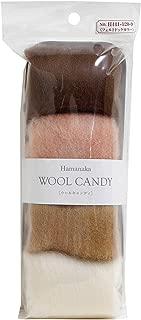 Hamanaka wool Candy 4 color set / felt dog collar 441-120-9 (japan import)