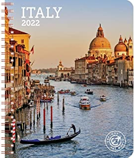 "Italy Weekly Engagement Calendar 2022, Planner 6.5"" x 8.5"" Spiral Bound"