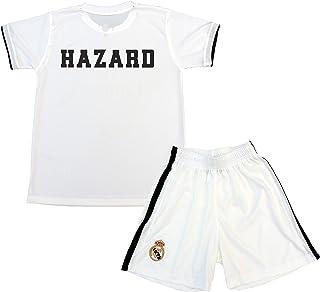 fff3d545e Real Madrid Conjunto Camiseta y Pantalón Primera Equipación Infantil Hazard  Producto Oficial Licenciado Temporada 2018-