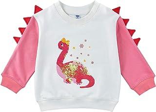 Sudadera de Dinosaurio para Bebé Niña - Pull-Over Camiseta de Manga Larga