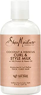 SheaMoisture Curl and Style Milk for Thick, Curly Hair Coconut and Hibiscus for Curl Definition 8 oz