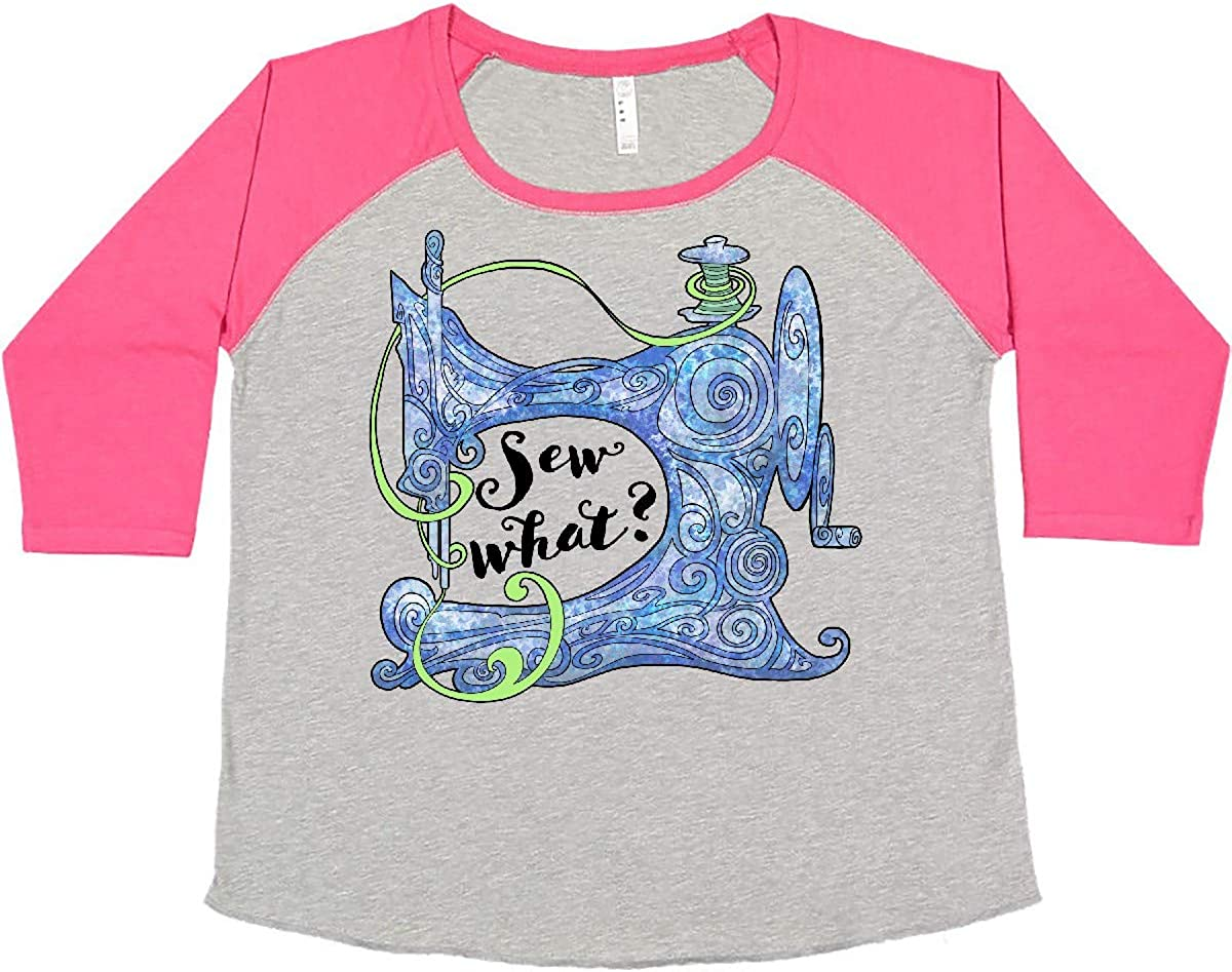 Max 90% OFF inktastic Sew What Stylized Sewing Women's Blue in Machine Plus Max 70% OFF