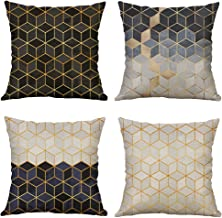Pack of 4 MUILEE Decorative Three-Dimensional Small Diamond Throw Pillow Unique Design Covers Cushion Case Shell Pillow Case for Car Sofa Bed Couch