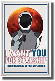 PosterEnvy Uncle Starman Wants You - New Humor Novelty Vintage Style Poster