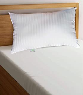 Home Delight Dreams Soft and Smooth Satin Strips Bed/Sleeping Pillow Pack of 1