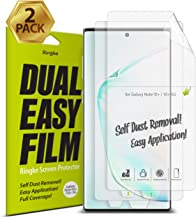 Ringke Dual Easy Film (2 Pack) Designed for Galaxy Note 10 Plus, Galaxy Note 10 Plus 5G Screen Protector (2019)